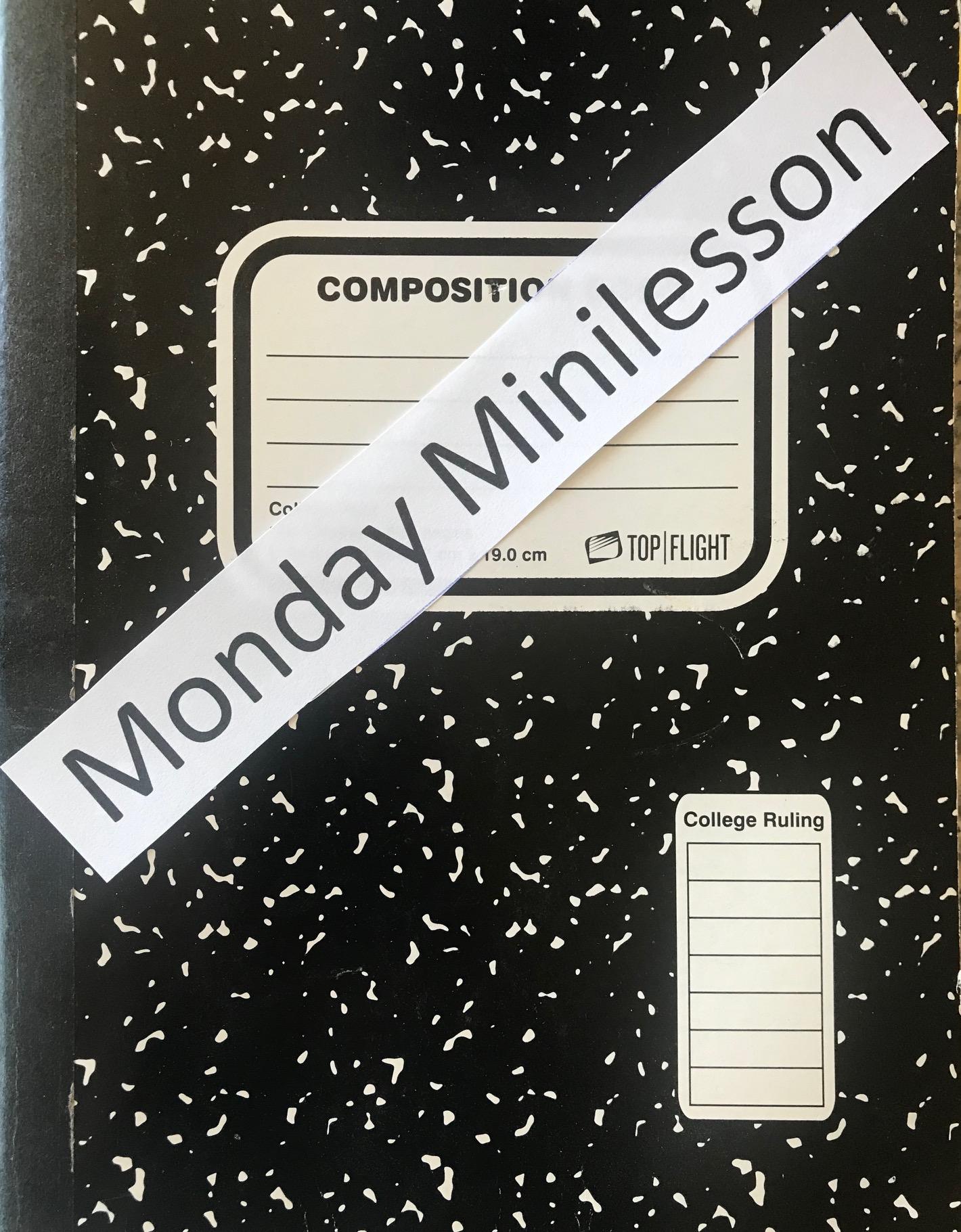 Blog minilesson monday